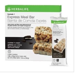 两盒直邮 美国康宝莱Herbalife代餐棒减肥营养蛋白棒 F1曲奇/柠檬