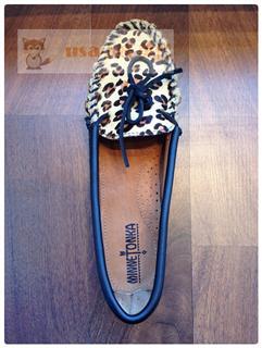 USA小妖 迷你唐卡 Minnetonka Full leopard 全豹纹豆豆底休闲鞋