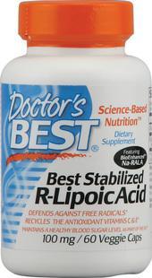 免运费!包美国直邮Doctor's Best右旋硫辛酸60粒 稳定血糖抗氧化