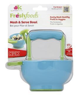 美国直邮 NUK Freshfoods宝宝食物研磨碗 手动研磨器