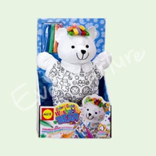 海外代购直邮 美国ALEX  可爱画画抱抱小熊 益智类可拆洗儿童玩具