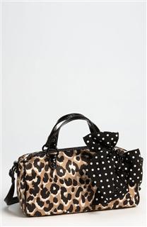 【北京现货】美国专柜正品 JC 橘滋 juicy couture 豹纹蝴蝶结 斜挎手提包