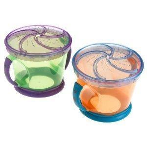 2只装 Munchkin麦肯奇 带把宝宝专用防泼洒零食杯 不含BPA