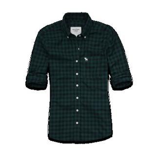 美国代购Abercrombie 女士CAMI SHIRT 格子长袖衬衫 代购