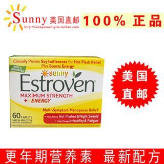 免运费!包美国直邮 Estroven 更年期强效营养素 全新配方 60粒