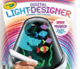 Crayola 儿童绘画数码设计旋转灯 Light Designer