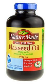 美国直邮 Nature Made 有机亚麻籽油Flaxseed Oil 1400mg 300粒