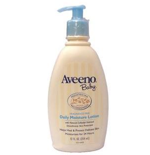 Aveeno Baby 天然燕麦全天候保湿润肤乳压嘴装354ML