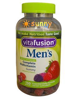 免运费包美国直邮 VitaFusion Men's 男士综合维生素软糖 150粒