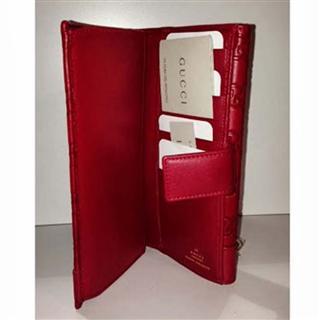 美国正品代购 Gucci 古奇牛皮长款女式钱包 红色印花 古驰
