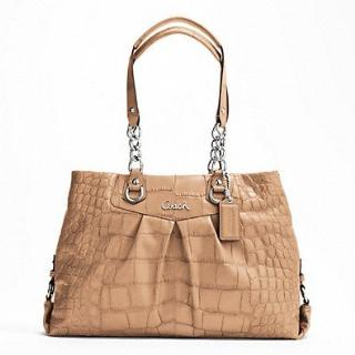 COACH-ASHLEY EMBOSSED EXOTIC CARRYALL