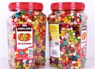 美国Kirkland 柯可蓝吉利贝 Jelly Belly 49种口味糖果 大罐装4磅