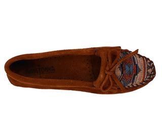 美国代购 Minnetonka迷你唐卡EL Paso 2代民族风麂皮豆豆底鞋