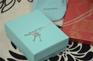 【美国直邮代购】蒂芙尼 Tiffany Keys 纯银三心型钥匙吊坠项链