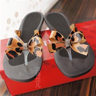 美国代购GUESS新款超美舒适蝴蝶结闪钻人字拖夹角凉鞋15色包邮!