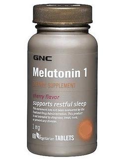 【美国直邮】GNC Melatonin 1 健安喜 美乐通宁 褪黑素片1mg 60片