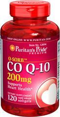 (5瓶装)Puritan's Pride辅酶Q10 200mg120粒 保护心脏12094