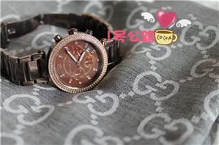 Michael Kors MK三眼计时石英女表MK5578-不锈钢表带 绝美奢华