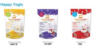 3包特价美国直邮Happy Baby有机酸奶溶溶豆混合莓/香蕉芒果/草莓