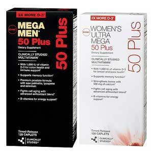 GNC男士|女士各120粒 维生素矿物质缓释片男性女性多维 一组价