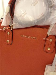 美国代购正品 Michael Kors 真皮女包新款十字纹皮单肩背手提包