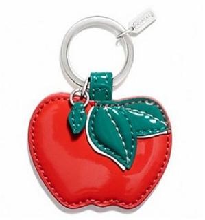 美国现货Coach蔻驰Apple Motif Key Ring 红苹果钥匙扣 F65819