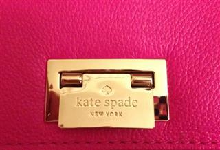 美国直邮 Kate spade 牛皮 优雅玫红色/纯色 秋千包 WKRU2231