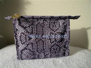 【北京现货】美国专柜正品 雅诗兰黛金色LOGO高雅暗紫色帆布化妆包