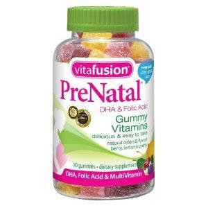 美国VitaFusion PreNatal孕妇熊宝宝维他命软糖含DHA 90粒 45天量