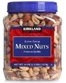 美国 Kirkland 顶级盐焗混合坚果仁 1.13kg