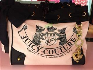 美国代购 Juicy Couture/橘滋 双小狗图案 女士背包