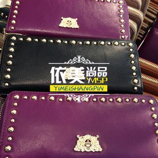 依美尚品 JUICY 简约欧美风 铆钉 长款 钱包 钱夹 女包 20