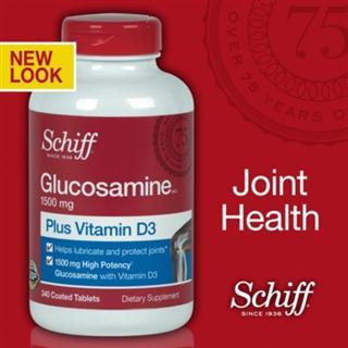 Schiff Glucosamine + VD 氨基葡萄糖维骨力 340粒/瓶