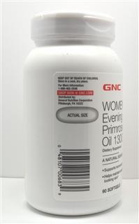 【美国直邮】GNC 月见草油 1300mg90粒 调节内分泌 祛痘 缓解经期