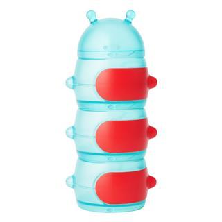 美国直邮Boon毛毛虫三格奶粉储存盒分装盒零食盒 不含BPA