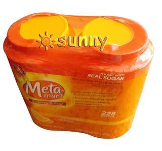免运费包美国直邮Metamucil美达施橙味天然膳食纤维粉1.36kg2瓶装