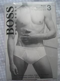 【美国直邮】HUGO BOSS纯棉内裤3条装 brief