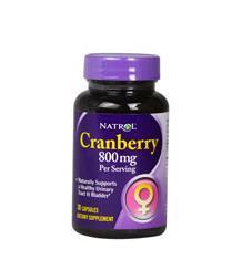 免运费包美国直邮Natrol蔓越莓浓缩精华宫颈糜烂尿路感染排毒祛斑