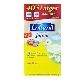 美国直邮:原装美赞臣金尊一段1段奶粉1390克(2罐包邮)Enfamil