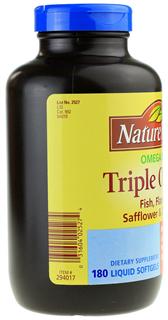 美国Nature Made Triple Omega3-6-9三倍复合鱼油1200mg180粒