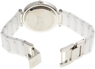 美国正品代购 AK Anne Klein 109417WTWT 银色镶钻陶瓷 手表包邮