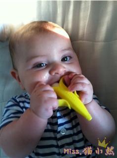 Baby banana香蕉牙胶 磨牙棒婴儿牙胶 乳牙刷 不含BPA