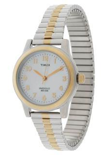 美国直邮 TIMEX天美时双色表带钢带女式手表T2M828 带夜光