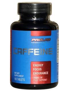 免运费包美国直邮prolab宝莱100片咖啡因提高耐力兴奋度 提神解乏