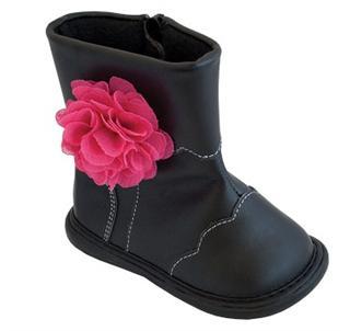 美国直邮 Wee Squeak 可爱舒适女童靴 皮革鞋面 橡胶底