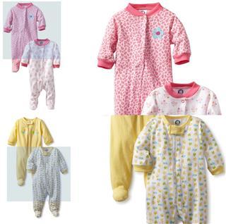 团购特价 美国直邮Gerber【嘉宝】婴儿长袖连体哈衣 纯棉柔软舒适