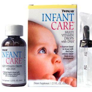 Twinlab婴儿多种维生素DHA滴剂50ml