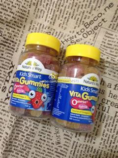 Nature's Way Kids Smart Vita Gummies儿童鱼油果汁软糖 168g