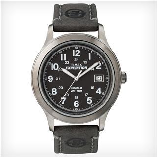 美国直邮包邮Timex天美时 T49869 远征探险男手表真皮表带