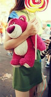 特价 美国正版 迪士尼Disney玩具总动员Talking Huggin'Bear会说话草莓熊